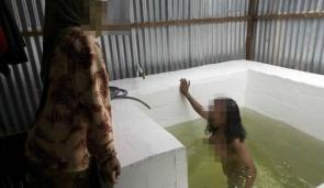 Falash Mura Ethiopian Woman Immersing In Mikva 2006 Israel Zvi Koren