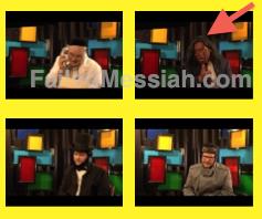 Oorah blackface video panel closeup 5-16-2012 watermarked arrow