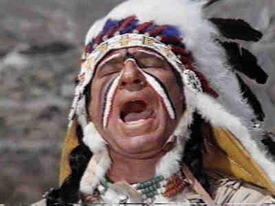 Mel Brooks as American Indian in Blazing Saddles