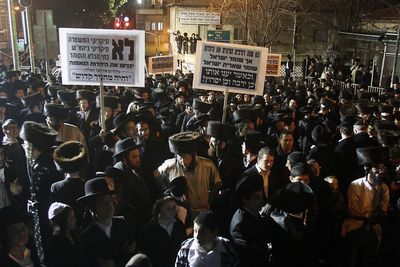 Haredi demo mea shearim 12-31-2011