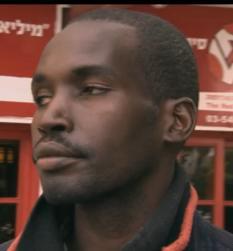 Sudanese refugee in Israel 1-27-2012