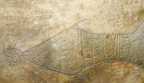 Jonah and the Whale from Jesus Disciples' Burial Cave (Simcha found it)