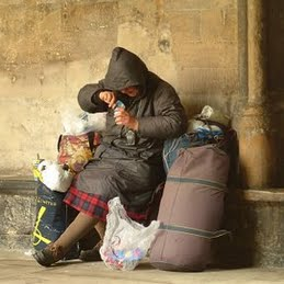 Homeless Elderly Woman Israel