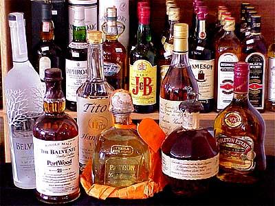 Liquor alcohol booze