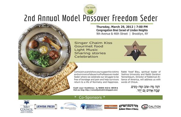 2nd Annual Model Passover Freedom Seder For Victims Of
