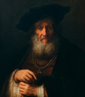 Rembrant's portrait of old rabbi