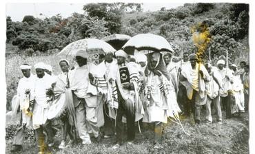 Ethiopian Jews in Ethiopia black and white circa 1955?