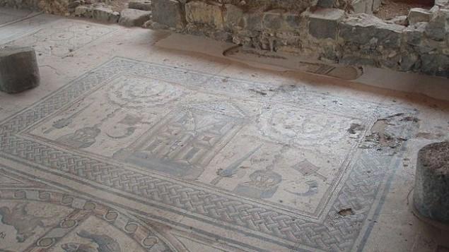 Hammat Tiveria Synagogue Floor damaged by haredim 5-29-2012