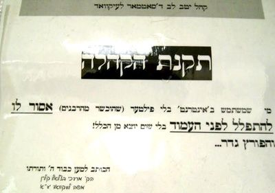 If you don't have an Internet filter, you can't lead prayers -- Satmar synagogue, Lakewood, NJ 6-11-2012 1