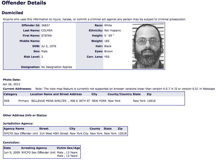 Wisconsins Sex Offender Registration and