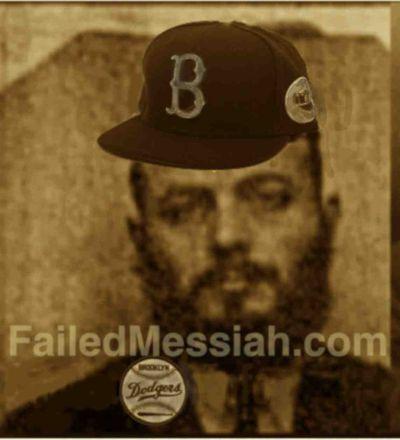 Rebbe ESTP Registration Photo Wearing Dodger's hat and button