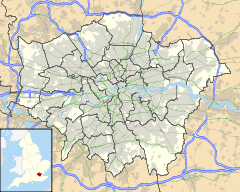 Greater London with Stamford Hill Highlighted