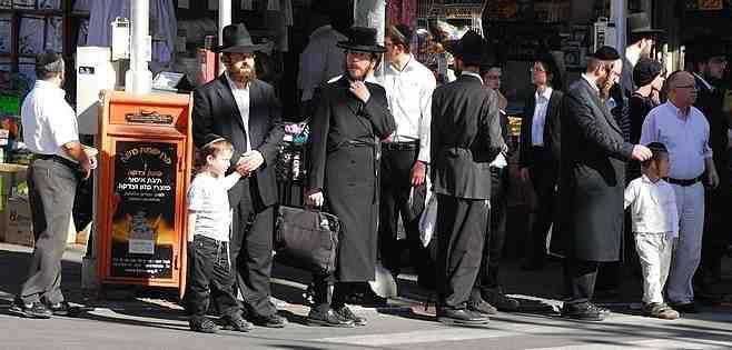 Haredim Streetcorner Bnei Brak 2010
