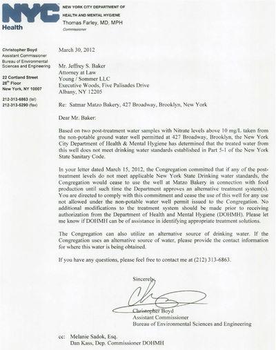 The Documents: Satmar Contaminated Matzoh - FailedMessiah com