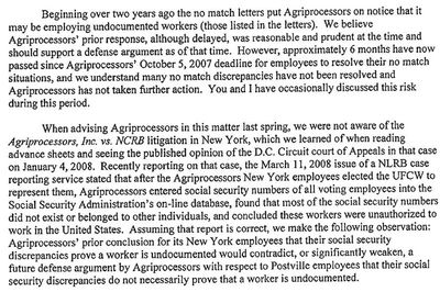 Immigration Attorney Letter To Sholom Rubashkin Before Raid