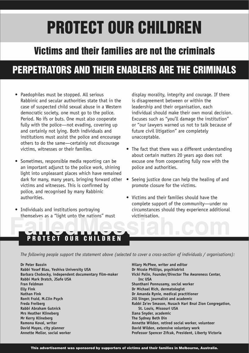 Australia Confronting Child Sexual Abuse ad 5-23-2012
