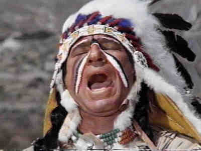 Mel Brooks as American Indian in Blazing Saddles