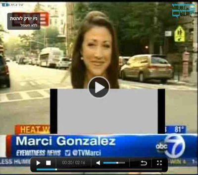 Behadrei Haredim covers female reporter's body a2 6-23-2012