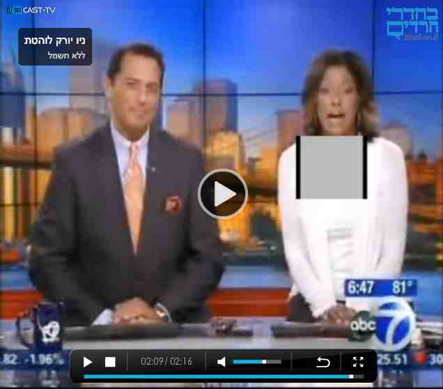 Behadrei Haredim covers female reporter's body b1 6-23-2012