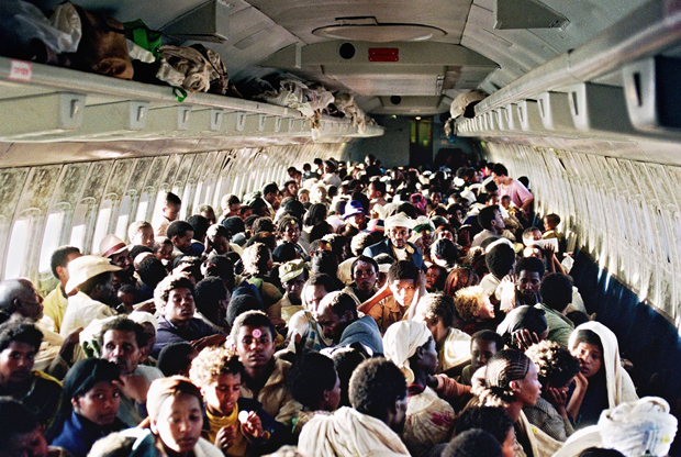Operation Solomon May 1991 inside airplane pic