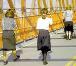 Hasidic women Williamsburg Bridge
