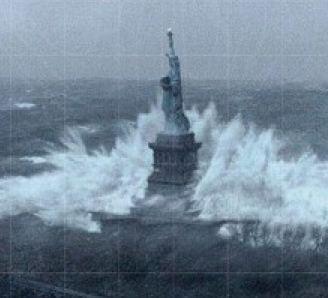 Hurricane Sandy Statue of Liberty
