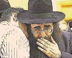 Rabbi Yoshiyahu Yosef Pinto hand on mouth closeup 2