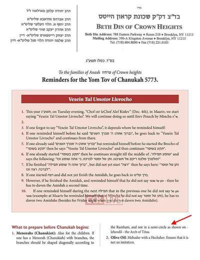 CrownHeights Beit Din Hanukkah 2012 annotated