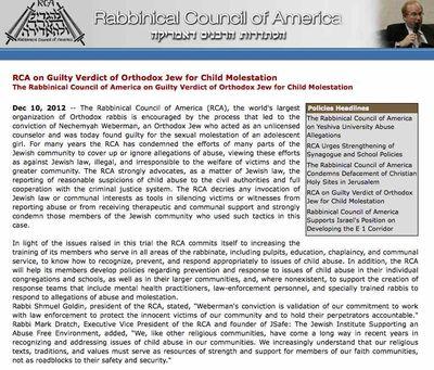 RCA Statement on Weberman verdict captured 12-17-2012 7-12 am cst