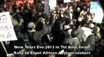 1-31-2012 demonstration in Tel Aviv against Africa refugees
