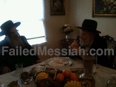 Williamsburg Satmar Rebbe Zalman Leib Teitelbaum visiting convicted felon Rabbi Moshe Chaim Strulovics in Lakewood, NJ 2-6-2013 watermarked