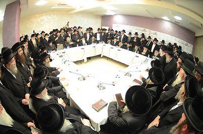 Hasidic and Non-Hasidic Rabbis Emergency Meeting Bnei Brak Draft 2-7-2013