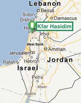 Kfar Hasidim Israel Map