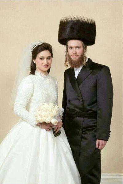 Nathan and Raizy Glauber wedding photo
