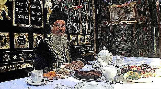 Rabbi Itzhak Yehoshua in his Sukkah Queens 2012