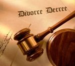 Divorce gavel decree image