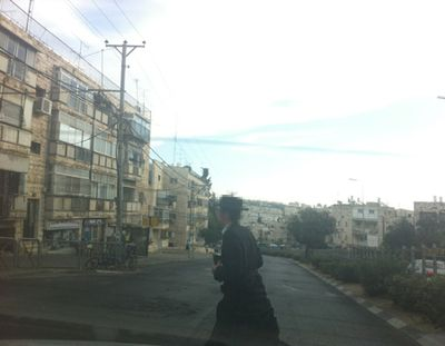 Haredi youth who allegedly spat on IDF soldier annd her mother in Jerusalem 10-30-2012