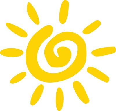 Stylized cartoon sun
