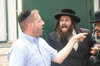 Haredim yelling at Rabbi Dov Lipman in Beit Shemesh 9-2011