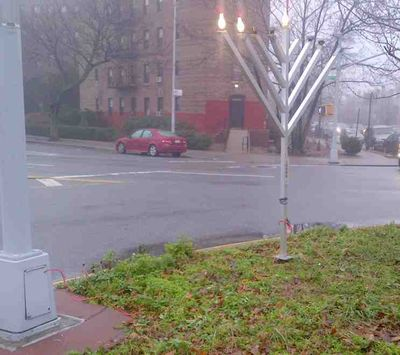 Chabad menorah steals electricity 4 12-10-2012