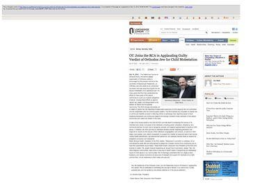 Google web cache of UO endorsement of RCA Weberman statement 12-10-2012