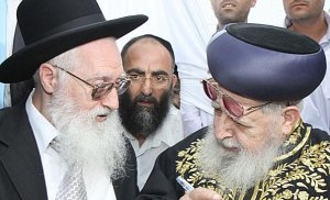 Rabbi Ovadia Yosef and Rabbi Yaakov Yosef