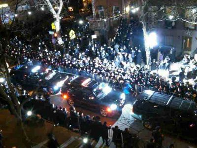 Satmar send off Israel trip 1-19-2013 3