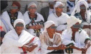 Ethiopian Jewish Women Falash Mura Eyes Covered Blurred