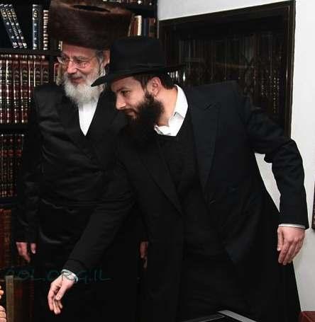 MK Rabbi Yisrael Eichler, left, Sholom Eichler, right