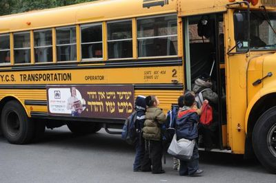 Haredi yeshiva school bus Brooklyn