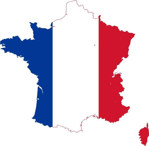 French Flag Map