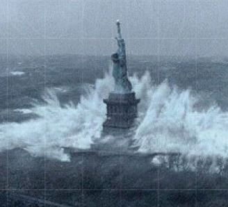 Hurricane Sandy Statue of Liberty