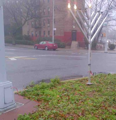 Chabad menorah steals electricity 1 12-10-2012