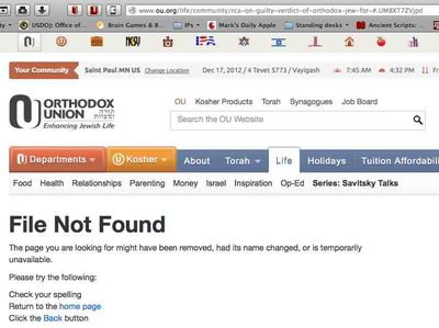 OU dot org Page not found -- OU and RCA applaud guilty verdict in child molestation case